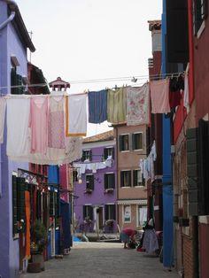 Colourfull houses in Burano Island, Venice lagoon, Italy