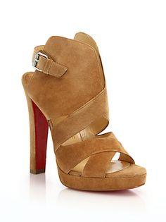 cc1e64d9557 Christian Louboutin - Suede Open-Toe Sandals Open Toe Sandals