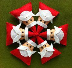 Moldes colgantes navideños de fieltro para imprimir gratis03