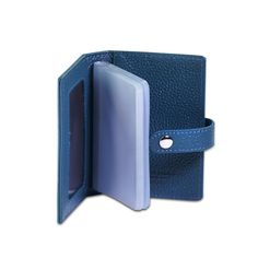 Pasjes houder met drukknoop - Campo Marzio - Turquoise Everyday Carry, Edc, Turquoise, Wallet, Pocket Wallet, Green Turquoise, Every Day Carry, Diy Wallet, Purses