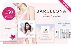Barcelona - 150 Social Media Designs by NordWood on @creativemarket