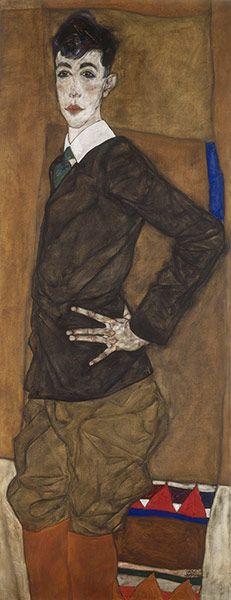 Credit: Martin P Bühler/Kuntsmuseum Basel Egon Schiele (1890-1918), Portrait of Erich Lederer, 1912