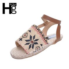 e3b25fa794491d HEE GRAND Brand Women Sandals Fisherman Hemp Plaited Breathable Casual Sandals  Summer Woman Shoes XWZ4260