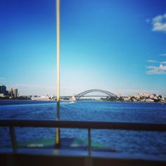 Not the worst view when going to work on a Saturday  #sydneyharbourbridge #sydney #sydneyharbour #beautifulearlymorning #lovethiscity #wishiwasatthebeach #perfectswimmingweather #summer #summertime #sydneyoperahouse #manlyferry #hopetodaydoesnttaketolong by charlottevdewar http://ift.tt/1NRMbNv