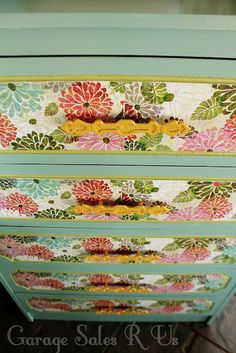 How to Mod Podge dresser drawers