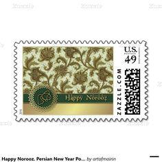 نوروز مبارک .Nowruz Mubarak / Muslim Spring Festival / Norooz / Nowruz / Persian New Year Postage Stamps. Matching cards, postage stamps and other products available in the Muslim Holidays / Events Category of the artofmairin store at zazzle.com