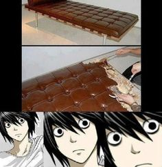 Death Note    anime funny: Manga Xd, Death Note Funny, Death Note L, L Deathnote, Heavy Breathing, Dramatic Music, Anime Meme, Naruto, Itachi