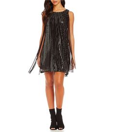 0f436737 Chelsea & Violet Sequin with Fringe Sleeveless Dress Violet Dresses,  Dillards, Chelsea, Sequins