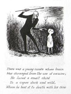 Edward Gorey Happy Halloween, everyone. (Illustration from The Listing Attic, Creepy Poems, Creepy Art, Edward Gorey, Poems Dark, Up Book, Simple Doodles, Scary Stories, Ink Illustrations, Horror Art