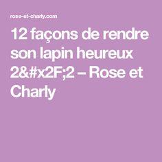 12 façons de rendre son lapin heureux 2/2 – Rose et Charly