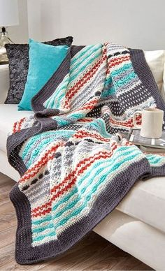 [Free Crochet Pattern] Beautiful Crochet Striped Throw To Make For Yourself Or As Gift