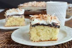 Coconut Fudge Poke Cake