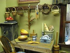 Miniature Country Dollhouse Kitchen