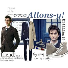 """""""The Tenth Doctor"""" by keepcalmandgocrazy on Polyvore"""