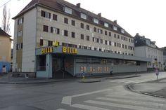 Filiale Nr. 119, Kapellenstraße 1: die mächtige Nachfolgerin von Filiale Nr 46, mitten im Siedlungsgebiet - die Nachfrage ist offenbar weiterhin gegeben.