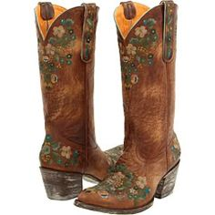Cute cowgirl boots I love the teal and white flowers