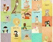 Animal Alphabet Large Print - via Etsy.