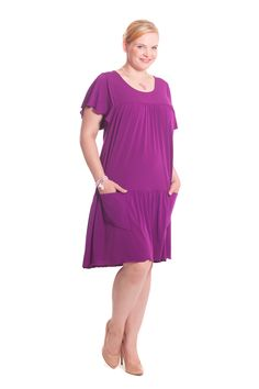 Plus Size Sommerkleid von Design for you. www.at/shop Dresses For Work, Summer Dresses, Trends, Mode Outfits, Boutique, Cold Shoulder Dress, Plus Size, Design, Shopping
