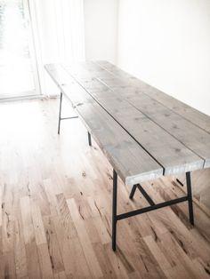 5 Ikea Table Legs, Ikea Legs, Dining Room Design, Interior Design Living Room, Plank Table, Diy Dining Table, Paint Colors For Living Room, Interior Styling, Diy Furniture