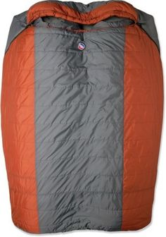 REI Double Sleeping Bag. Great idea for couples camping trips! Just make sure you have separate air mattresses underneath otherwise you'll roll into him all night and wind up with an achy everything the next morning!!