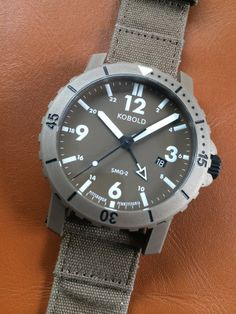 ALL NEW: Kobold SMG-2 Desert watch. #americanwatch #koboldwatches #militarystyle