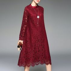 Buy Maroon SheIn Casual dress for woman at best price. Compare Dresses prices from online stores like SheIn - Wossel United States Dress Brokat, Kebaya Dress, Trendy Dresses, Modest Dresses, Casual Dresses, Muslim Fashion, Hijab Fashion, Fashion Dresses, Mode Abaya