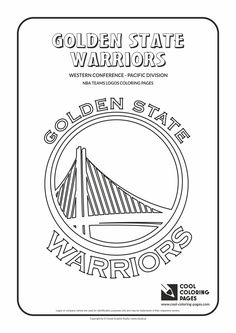 nba team logo coloring pages | Golden State Warriors basketball coloring page: Golden ...