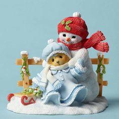 Bear w Snowman and Sled