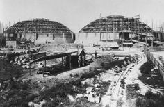 1897, Simmering, Bau der Gasometer Urban Planning, Hungary, Austria, Paris Skyline, Past, Europe, Snow, City, Building