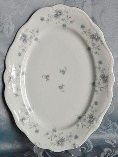 """Johann Haviland Bavaria Blue Garland 13"""" Serving Platter~Never Used, White #JohannHaviland"""