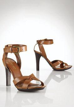 strappy leather sandals // ralph lauren