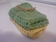 READY TO SHIP Set of 2 Washcloths by HEARTLANDMIX on Etsy, $6.00