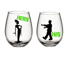 Hey, I found this really awesome Etsy listing at https://www.etsy.com/listing/248649654/his-and-her-wine-glasses-cute-wine