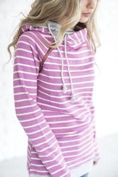 #mindymaesmarket #dreamcloset DoubleHood™ Sweatshirt - Magenta Stripe