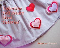 Easy Heart Skirt Tutorial