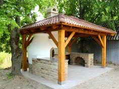 Kemax - Kunfehértói kerti konyha Kettlebells, Pergola, Bbq, Outdoor Structures, House, Arbors, Round Round, Garten, Barbecue