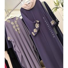 Image may contain: one or more people and people standing Abaya Fashion, Muslim Fashion, Modest Fashion, Fashion Dresses, Simple Gown Design, Estilo Abaya, Modern Abaya, Hijab Style Dress, Arabic Dress