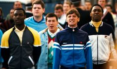 Football Casuals, they wore sergio tacchini, Fila, Pringle and other expensive designer golf and football. Football Hooliganism, Football Casuals, Football Fashion, Retro Football, Shell Suit, Youth Culture, American Football, British Football, Street Wear