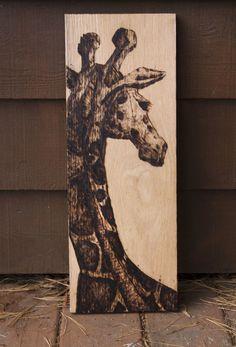 """""""Giraffe""""  - Wood Burning"""