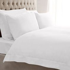 Fifth Avenue Egyptian Cotton 300 Thread Count White Oxford Duvet Cover Oxford White, Egyptian Cotton, Counting, Duvet Covers, Pillow Cases