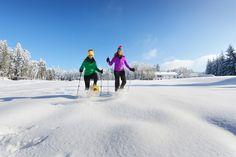 Beim #Schneeschuhwandern durch das #Granithügelland den #Weitblick genießen. Weitere Informationen zu #Winterurlaub im #Mühlviertel unter www.muehlviertel.at/winteraktivitaeten - ©Oberösterreich Tourismus/Röbl Snow, Outdoor, Snow Boots, Ice Skating, Winter Vacations, Tourism, Outdoors, Outdoor Games, The Great Outdoors