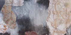 Irina Schuvaloff, 2014, Without you I, mixed media on MDF-board, 33 x 63