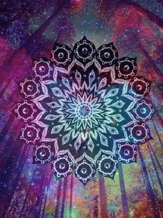 Find images and videos about art, galaxy and mandala on We Heart It - the app to get lost in what you love. Mandala Art, Design Mandala, Mandala Pattern, Mandala Tapestry, Psy Art, Illustrations, Psychedelic Art, Fractal Art, Sacred Geometry