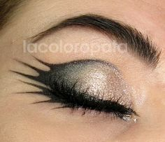 Great idea if you want to mix elegant eyes with the day Tinker Bell betrayed Peter Pan. #badfairy