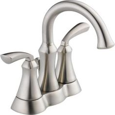 Mandara 4 in. Centerset 2-Handle High-Arc Bathroom Faucet in Stainless-25962LF-SS at The Home Depot