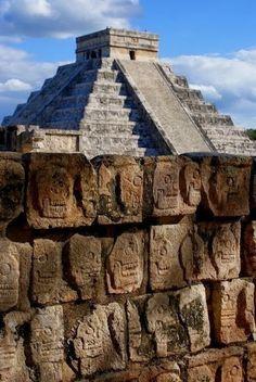 Pyramid of Skulls - Chichen Itza, Yucatan - a MUST when you go to Cancun, Mexico!.