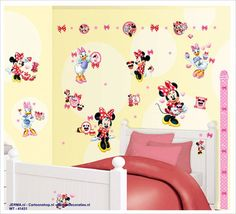 Awesome Fotobehang of wandstickers minnie mouss katrein duck disney muurstickers kinderkamer plakkers van mickey vriendin