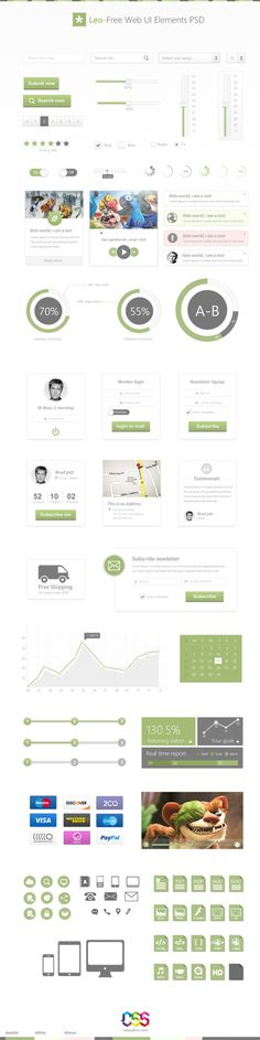 Leo Free Web UI Elements PSD