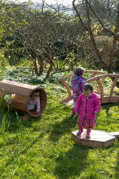 This outdoor active play equipment for the early years works well in even the smallest outdoor space. Arrange the pieces to suit children's abilities, and rearrange as children grow and learn new skills!
