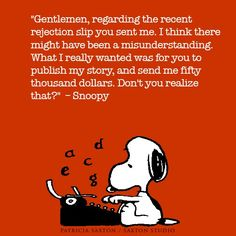 I love writer Snoopy! Snoopy Love, Charlie Brown And Snoopy, Snoopy And Woodstock, Writing Quotes, Writing Tips, Snoopy Quotes, Peanuts Quotes, Little Elephant, Writing Inspiration